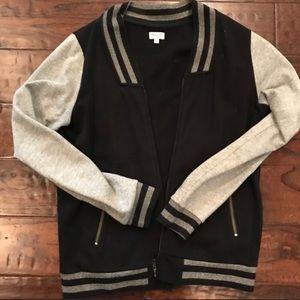 Madewell varsity sweatshirt jacket